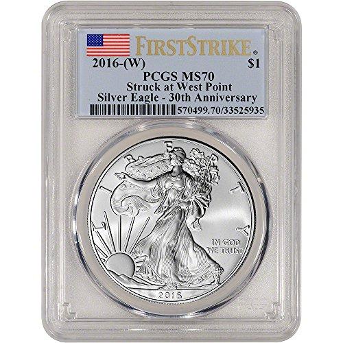 2016 (W) American Silver Eagle (1 oz) First Strike $1 MS70 PCGS
