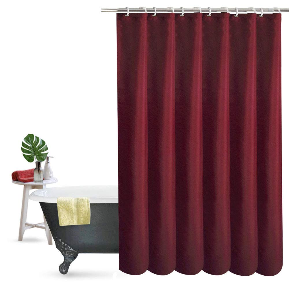 Ordinaire UFRIDAY Elegant Fabric Shower Curtain Water Repellent No More Mildew With  Rust Proof Grommets, Thick Polyester Bath Curtain Durable For Home And  Hotel, ...