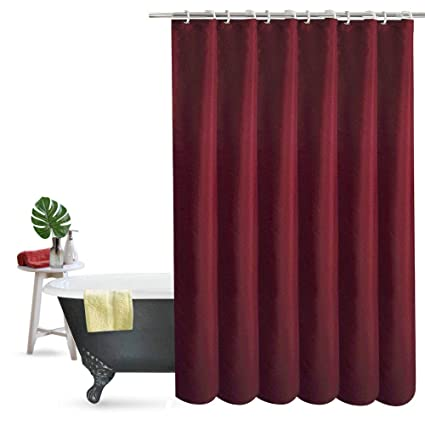 Wine Colored Shower Curtains.Ufriday Elegant Polyester Shower Curtain Thick Fabric Water Repellent With Rust Proof Grommets Durable Bath Curtain No More Mildew For Home And