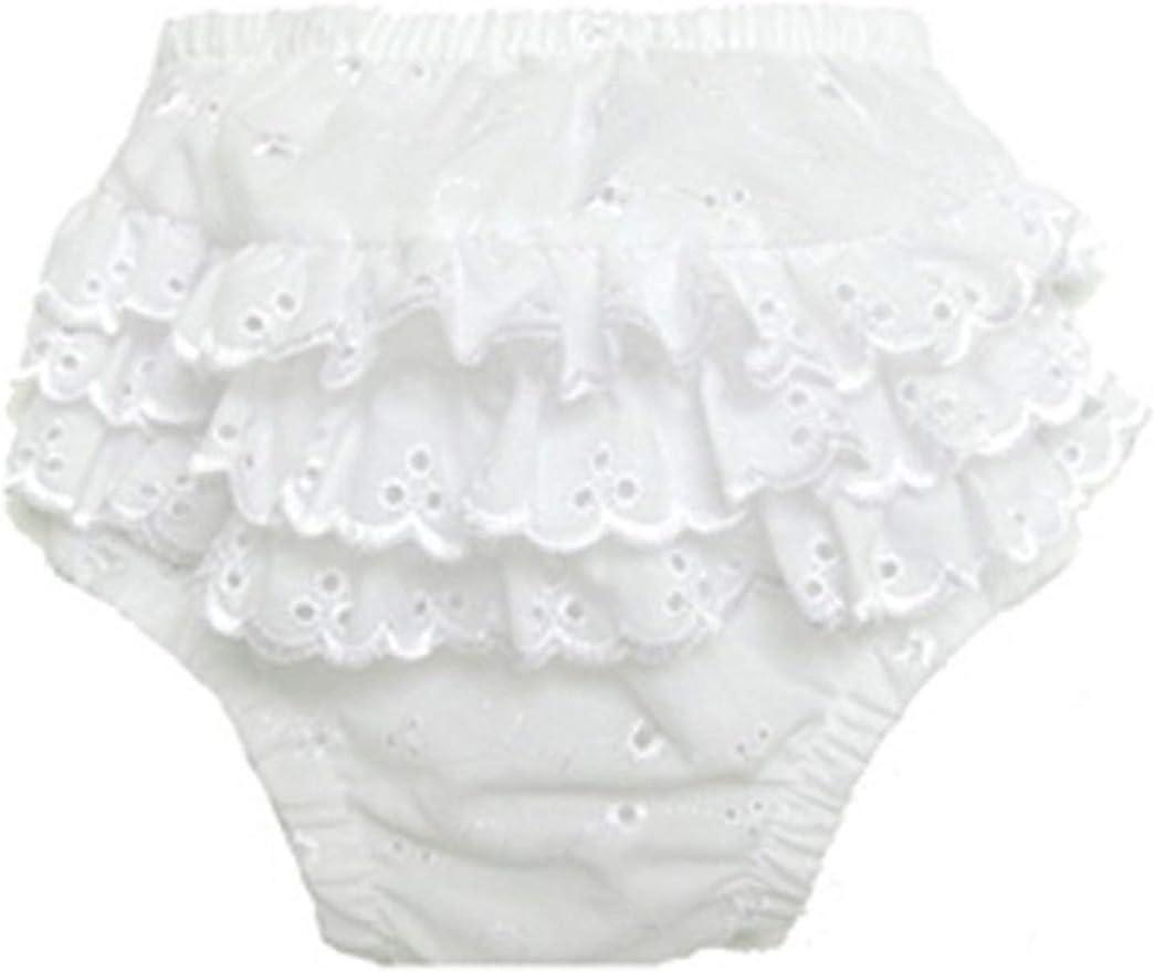 bambini Baby Girls Cotton//Poly Ruffled Fancy Pants Underwear