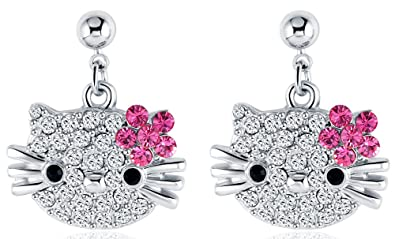 Amazon Com Vpkjewelry Women S Ladies Girls Hello Kitty Cat 18k 3