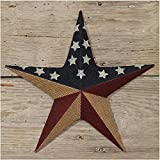 The Country House Collection Burlap American Flag Star (12'')