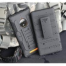Nokia Lumia 830 Case, Cocomii Robot Armor NEW [Heavy Duty] Premium Belt Clip Holster Kickstand Shockproof Hard Bumper Shell [Military Defender] Full Body Dual Layer Rugged Cover Microsoft (Black)