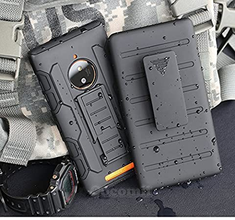Nokia Lumia 830 Case, Cocomii Robot Armor NEW [Heavy Duty] Premium Belt Clip Holster Kickstand Shockproof Hard Bumper Shell [Military Defender] Full Body Dual Layer Rugged Cover Nokia (Hard Case For Nokia Lumia 830)