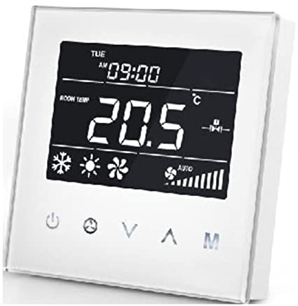 MCO Home Fan Coil Thermostat with 4 Pipe Edition - Negro