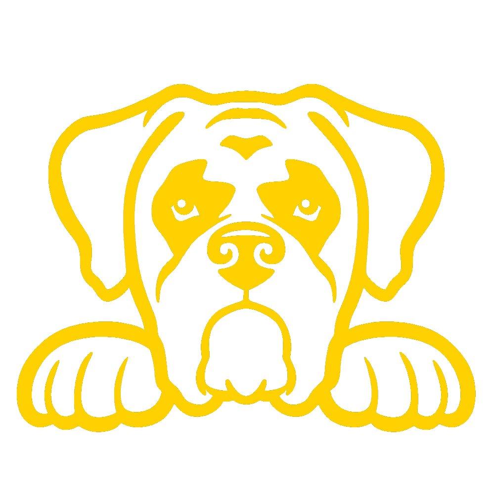 ボクサー犬Peeking v1ビニールデカールby stickerdad – サイズ: 5インチ、色: Athleticゴールド – Windows、壁、バンパー、ノートパソコン、ロッカー、など。 B079LW59BS