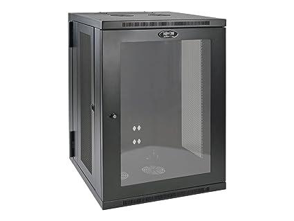 Tripp Lite 18U Wall Mount Rack Enclosure Server Cabinet with Acrylic Glass  Window, Hinged, 20 5