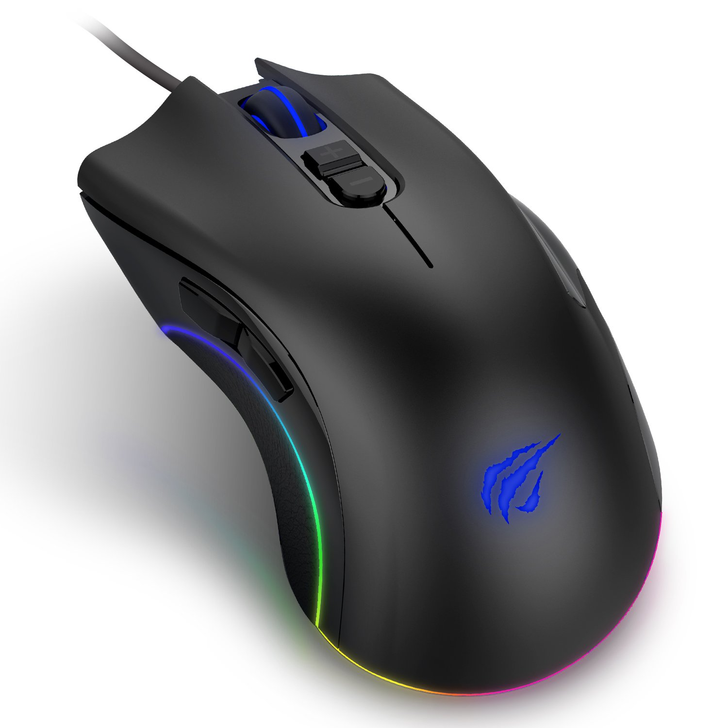 8928f3364e2 HAVIT Programmable Gaming Mouse 4000DPI 7 Buttons RGB Backlit Wired Optical  for Laptop, PC & Computer, MS794 (Black): Amazon.co.uk: Computers &  Accessories
