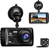 Dashboard Camera, Dash Cam 1080P HD,YonRui Front and Rear Driving Video Recorder with 4 Inch LCD, Parking Monitoring,Motion Detection, G-Sensor, LED Compensation