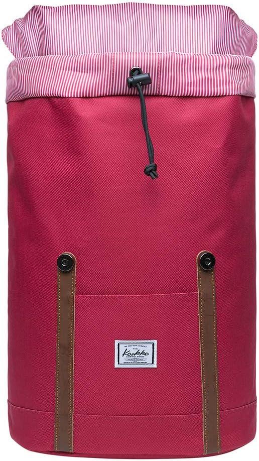 KAUKKO Sac /à Dos Loisir Sac /à Dos Vintage pour Hommes pour Voyages ou /école Peut accueillir Un Ordinateur Portable Taille Mini Bleu