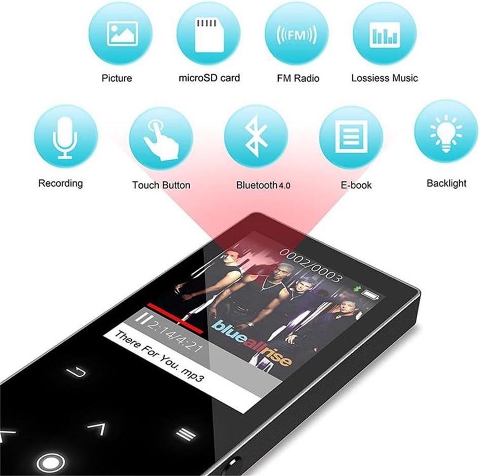 CFZC con Radio FM y Ranura para Tarjeta Micro SD de 64 GB Reproductor de m/úsica de 16 GB con Altavoz Reproductor de MP4 de Metal sin p/érdidas Reproductor de MP3 con Bluetooth