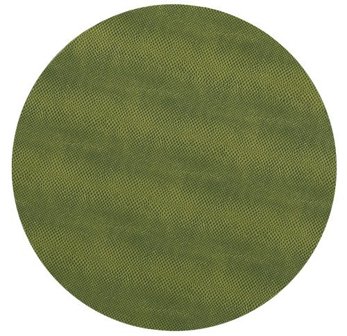 Round Placemats Table Mats Thanksgiving Placemats Christmas Placemats Faux Green Leather 1 Pc. by Caspari