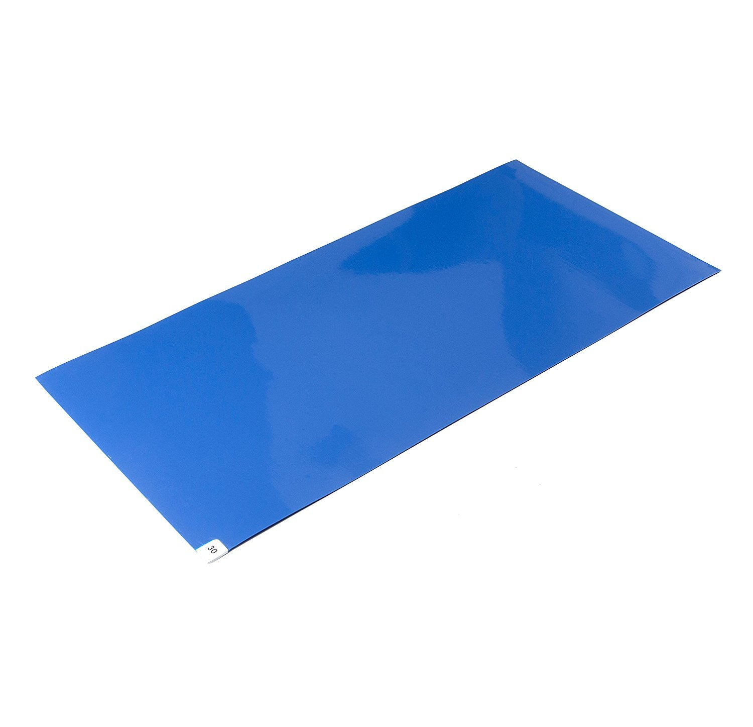 CleanPro Blue Adhesive Sticky/Tacky Mats, 18'' x 36'' (Case of 4, 30 Sheets/Mat)