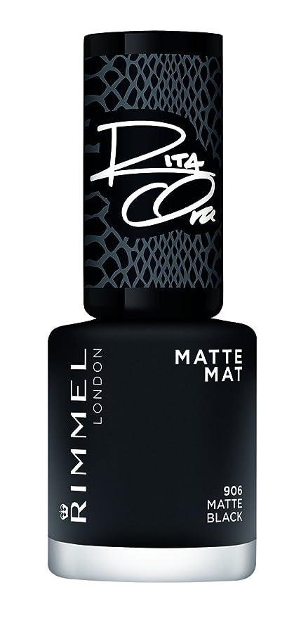 Buy Matte Black: Rimmel London Super Shine A Matte Black Nail Polish ...