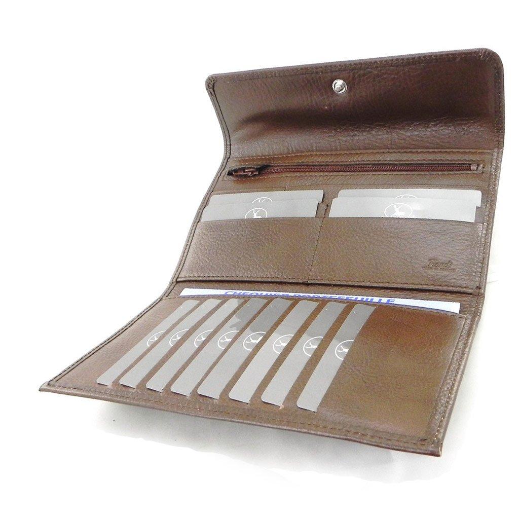 Wallet + checkbook holder leather ''Frandi'' brown - ecological york. by Les Tresors De Lily (Image #8)