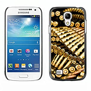 All Phone Most Case / Oferta Especial Duro Teléfono Inteligente PC Cáscara Funda Cubierta de proteccion Caso / Hard Case Samsung Galaxy S4 Mini i9190 // Golden Bullets Ammo