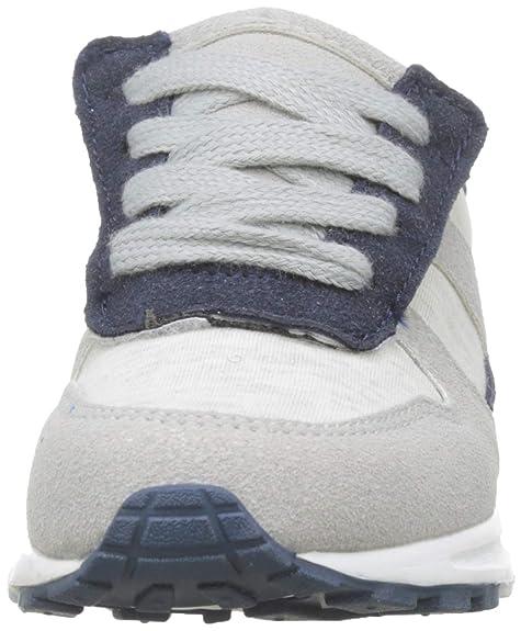 Amazon.com   ZIPPY Boys Zapatillas Com Cordones Elásticos para Niño Low-Top Sneakers, (Grey 860), 14 UK   Sneakers