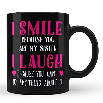 Amazon.com: Gift for Sister Mug | Brother Sister My Big Sister ...