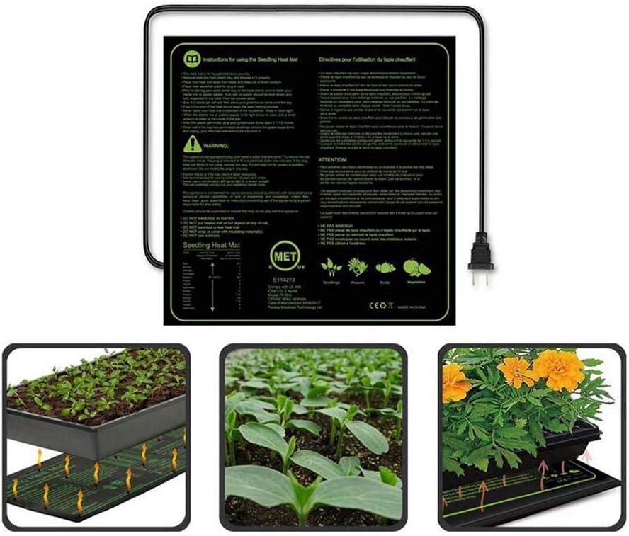FXQIN Manta Calentadora De Cultivo para Plantas, Placa Calefactora para Invernadero, Germinación, Jardín Hidropónico, Impermeable Manta Termica para Plantas, 50.8 * 50.8cm,USPlug