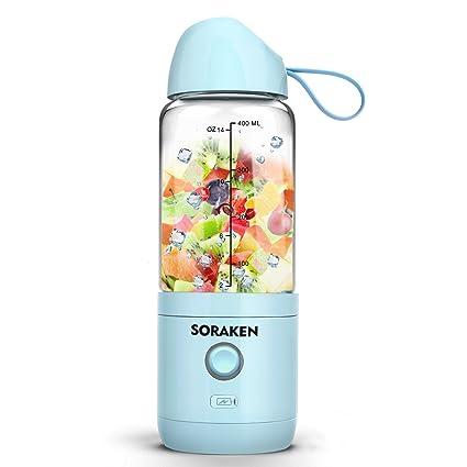 Licuadora multifuncional de alto rendimiento para batidos y zumos, recargable con USB, con bandeja