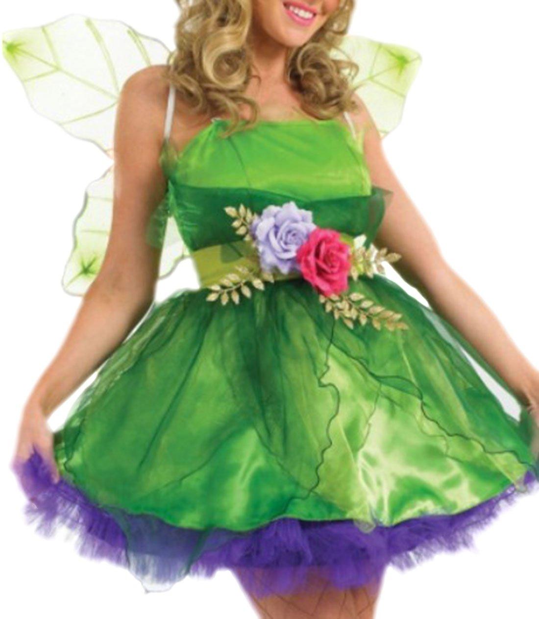 Karnevalsbud - Damen Märchenfee Zauberprinzessin Kostüm, Kostüm, Kostüm, S, Grün e11410