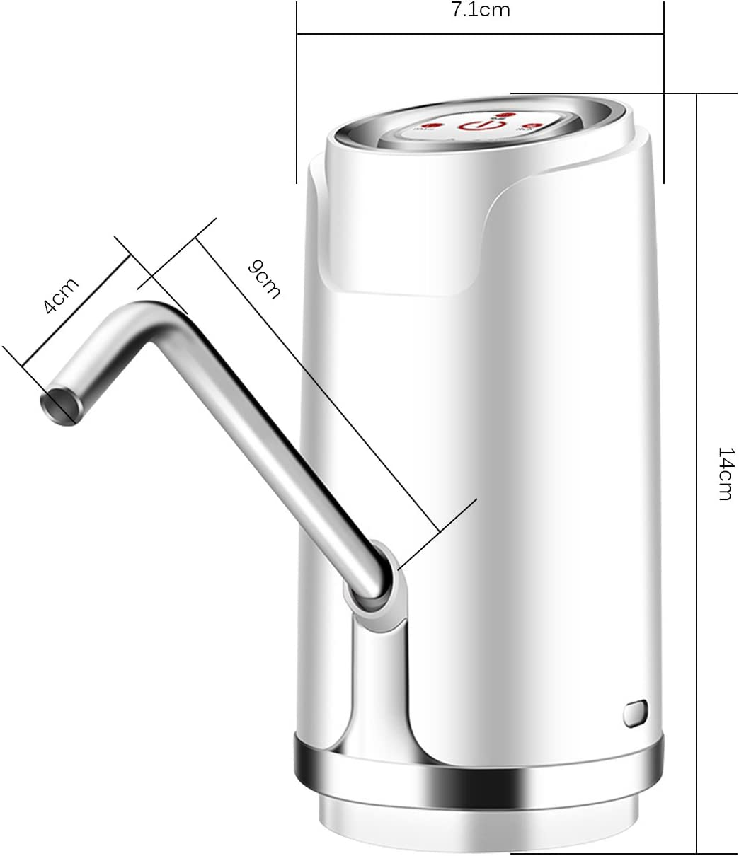 Electric Auto Water Bottle Pump Fast Pumping Pump Dispenser USB Powered Electric Water Dispenser Water Bottle OurLeeme Water Bottle Pump