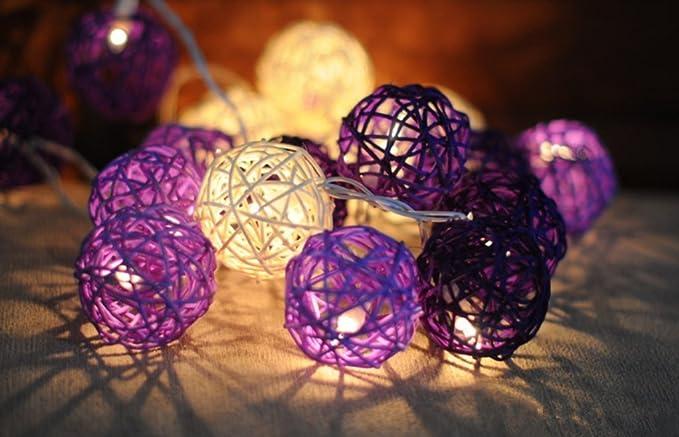 Eysee viola e giallo decorativo lampada 20 palla per giardino