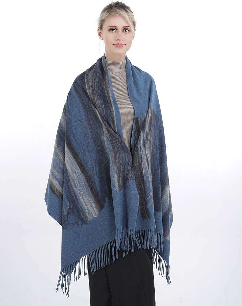 Niaiwei Women Scarf Plaid Blanket Scarves Wraps Shawl winter Cashemere scarf (Jacquard Grey)