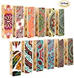 12pcs Refrigerator Magnet Clips by Cosylove-Decorative Magnetic Clips Made of Wood with Beautiful Patterns–Super Fridge Magnets for House Office Use - Display Photos,Memos, Lists, Calendars