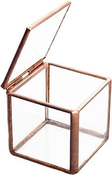 Feyarl - Caja de cristal para joyería (tamaño pequeño), diseño de flores, color negro: Amazon.es: Bricolaje y herramientas
