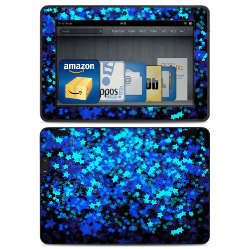 Stardust Winter Design Protective Decal Skin Sticker (Matte Satin Coating) for Amazon Kindle Fire HDX 7 inch (released 2013) eBook Reader
