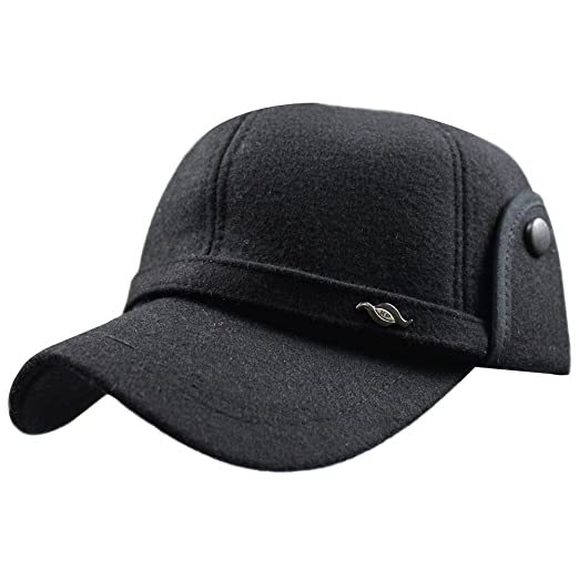 Image Unavailable. Image not available for. Color  eYourlife2012 Men Winter  Wool Fleece Warm Outdoor Sports Baseball Cap Hat Visor with Earflaps 0c52051f67ff