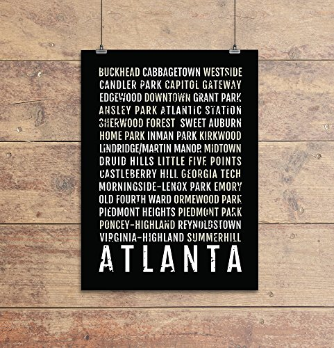 Atlanta Print - Neighborhoods - Subway Sign Poster, Wall