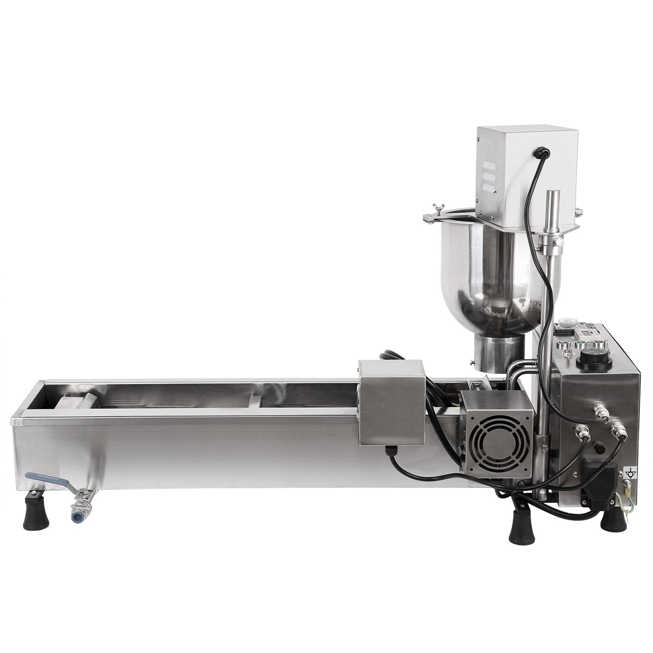 Ridgeyard Commercial Automatic Donut Making Machine Auto Donut Maker Machine with 3 Sizes Molds and 7L Bucket 110V 3000W, Ship From US by Ridgeyard