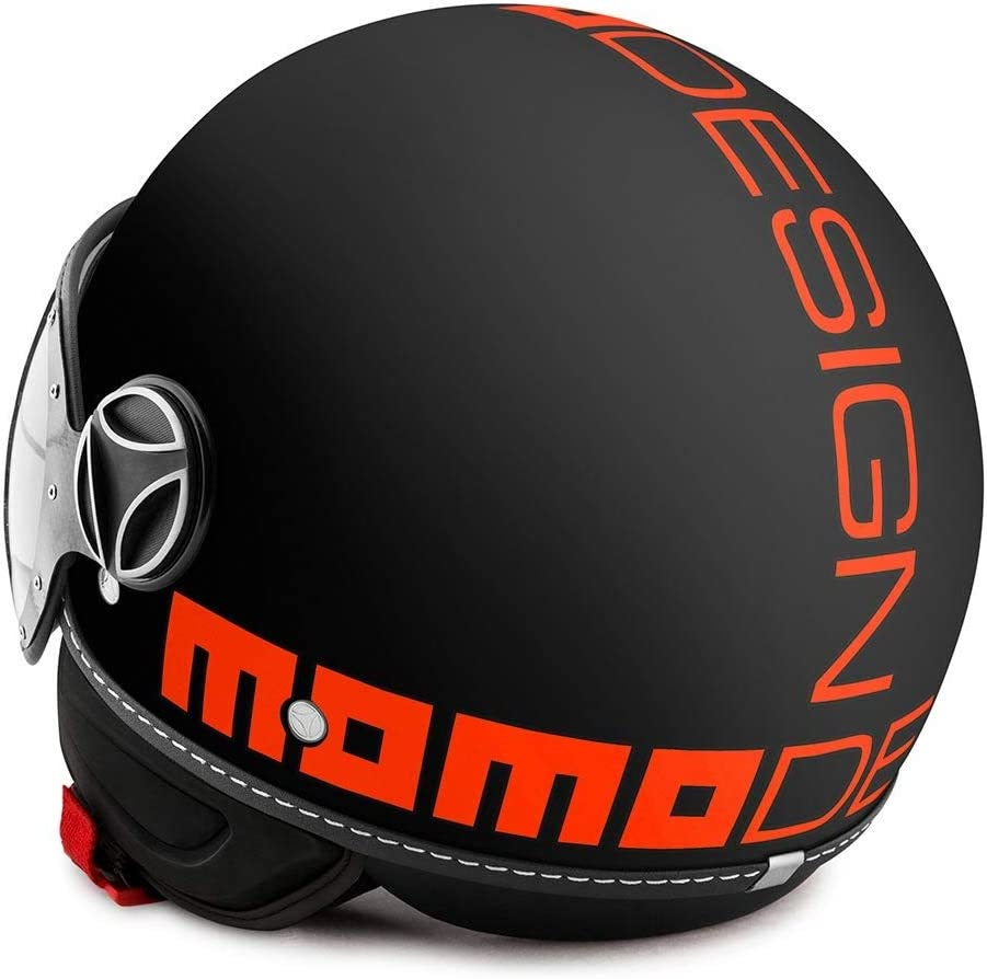 Momo Design Momo Fgtr Fluo Jethelm Schwarz Matt Orange Ml 58 Auto