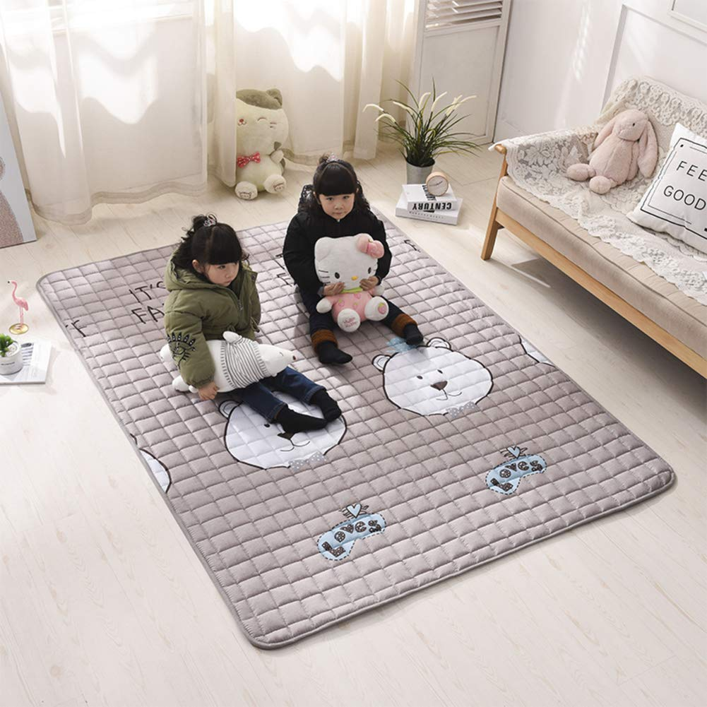 F 90x200cm(35x79inch) Non-Slip Futon Tatami mat Sleeping, Foldable Tatami Floor Mattress pad Quilted Fitted Student Dormitory Bed mat Simmons Available-D 180x200cm(71x79inch)