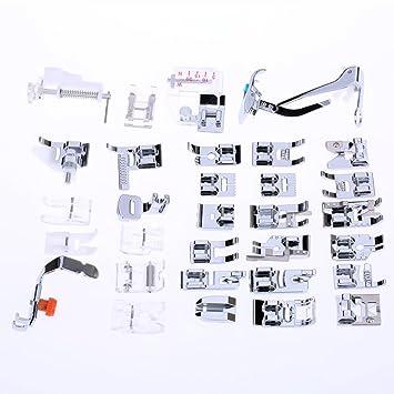 Milkee 32 Prensatelas Multifunción para Prensar Diferentes Tipos de Telas en las Máquinas de Coser