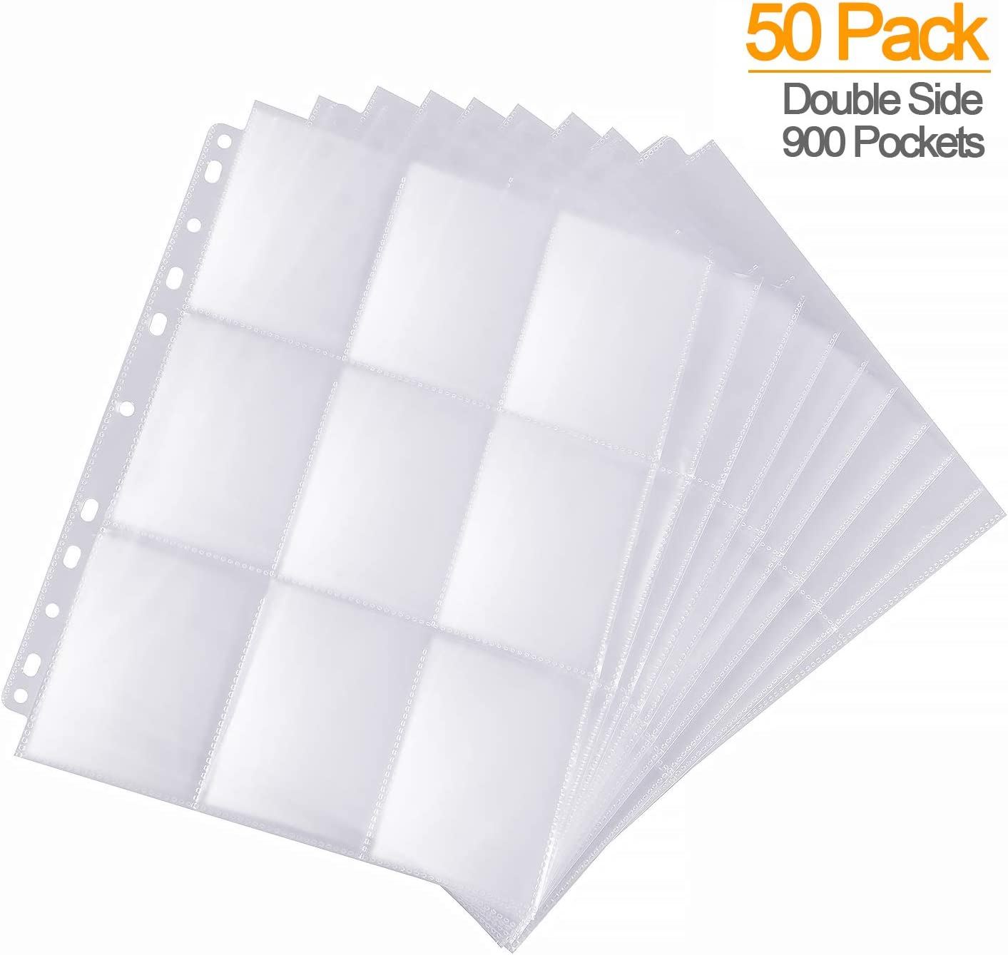 50 SLEEVE POCKET PAGE VARIETY PACK for COUPON BINDER ORGANIZER or BASEBALL CARDS