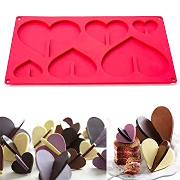 DIY Fondant Formen Silikon-Herz-Kuchen-Dekor-Schokoladen-Backformen herstellt