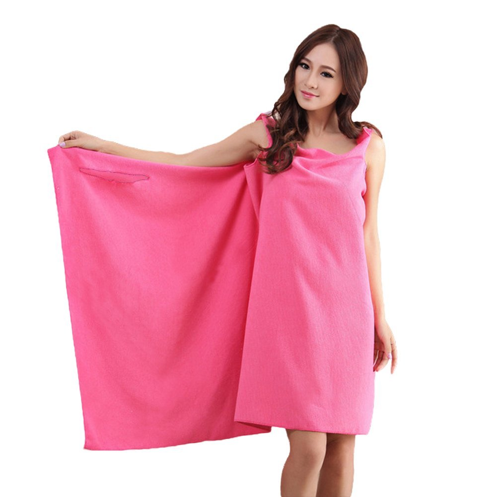 YOUNICER Bath Towel - Wrap Beach Spa Bathrobes Bath Skirt Easy Wear Clean Soft Cotton Fabric Bath Wraps Lady Women Girls Wearable