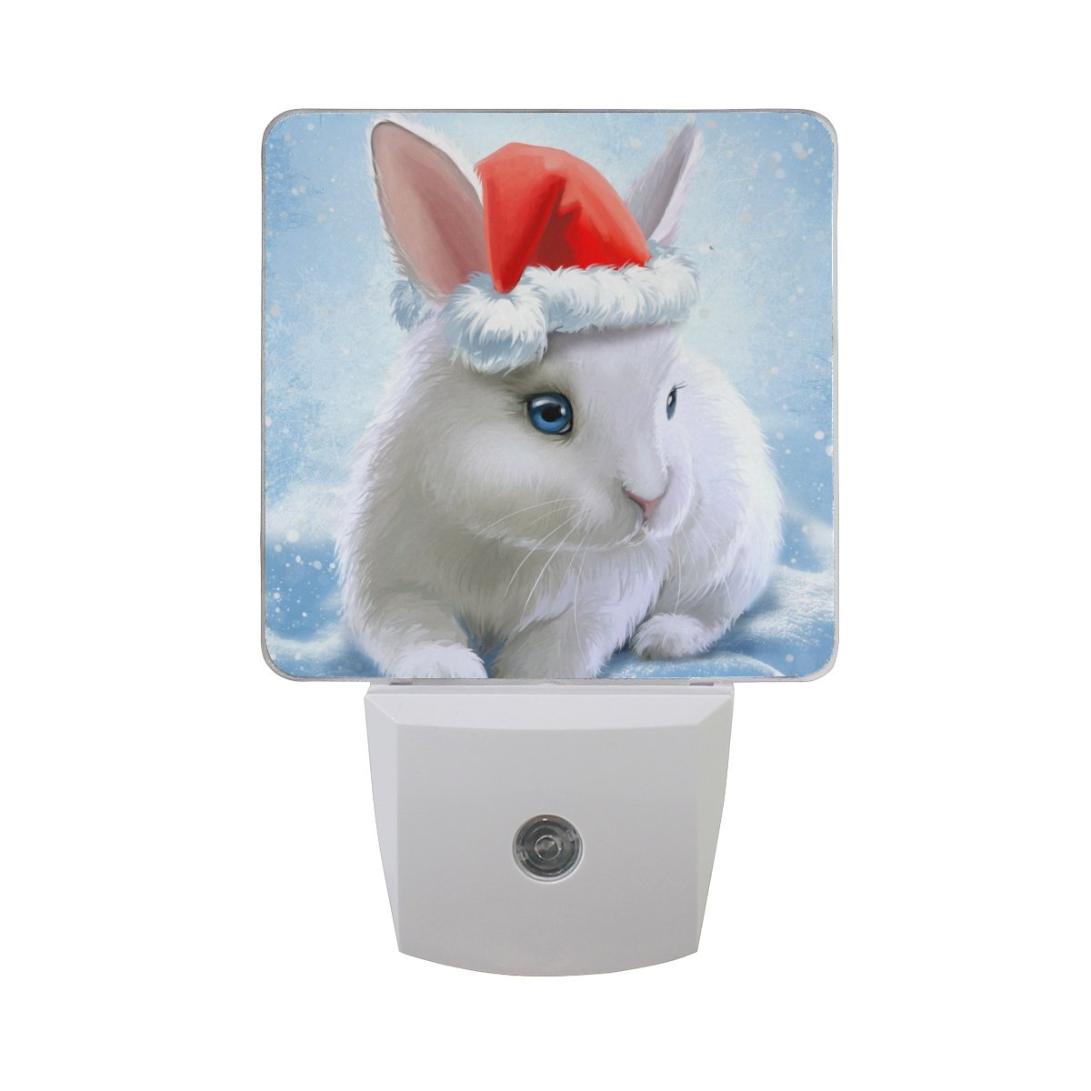 JOYPRINT Led Night Light Cute Animal Rabbit Bunny, Auto Senor Dusk to Dawn Night Light Plug in for Kids Baby Girls Boys Adults Room