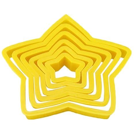 nikgic estrellas pastel molde plástico fondant molde caramelos Pastel Molde de horno moldes non-collant