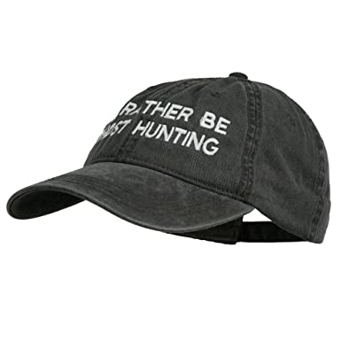3794ae752a6db E4hats I d Rather Be Ghost Hunting Embroidered Washed Cap - Black OSFM