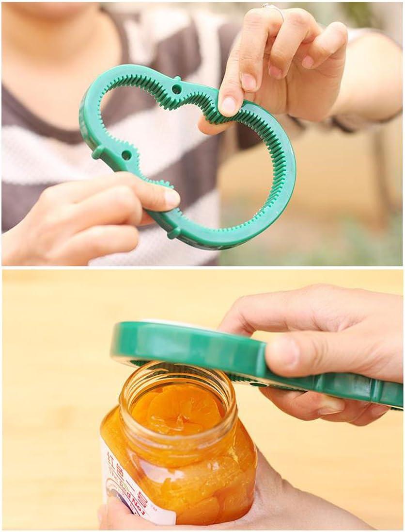 3 in 1 Kitchen Tool Silicone Easy Arthritis Jar Opener Convenience Multi-Function Jars//Bottles Wine Opener Kitchen Tool Green