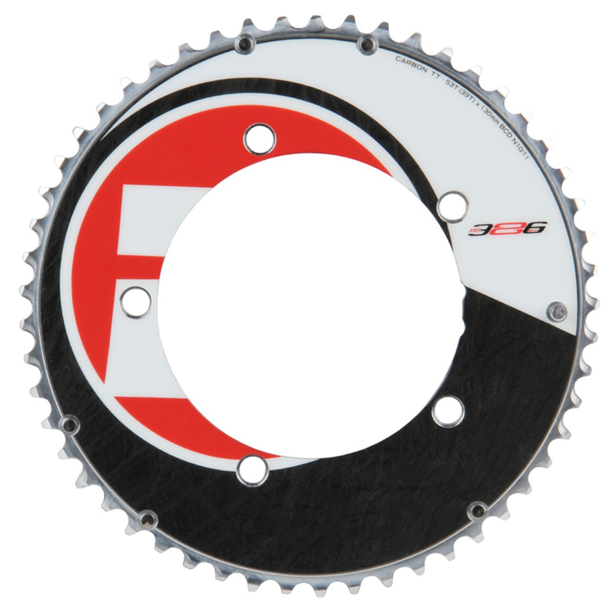 FSA Vision Tech Aero UD Carbon Bicycle Chainring - 53T/130mm - 368-0153B by Vision by FSA (Image #1)