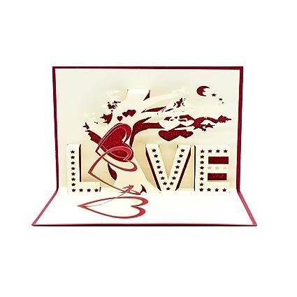 Amazon Com Magic Ants 3d Love Pop Up Love Cards Valentines Day
