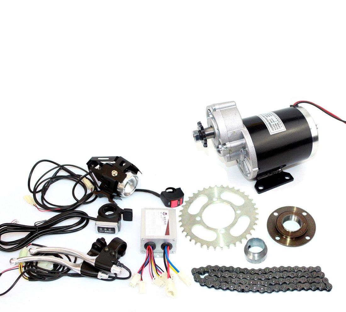 24v36v48v 450ワット電動三輪車変換キット電動トライクギアモーター電動人力車キットmy1020z 450ワット起毛ギアモーター B07F2H6WKC36V thumb kit