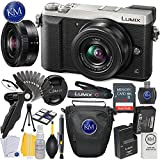 Panasonic Lumix DMC-GX85 Mirrorless Digital Camera w/ 12-32mm Lens (Silver) + 32GB Memory + Basic Photo Accessory Bundle