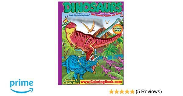 Dinosaurs Really Big Coloring Book English And Spanish 175 X 235