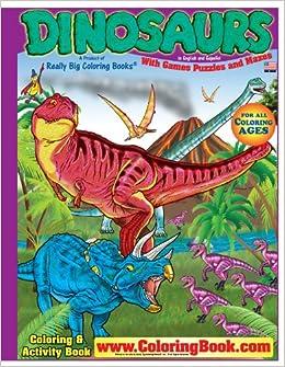 Dinosaurs Really Big Coloring Book English and Spanish (17 x 23 ...